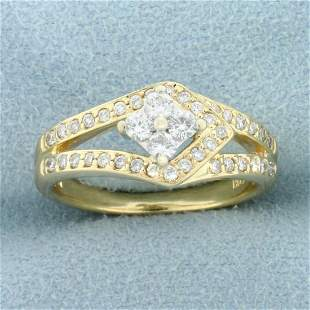 1/2ct TW Diamond Designer Ring in 14K Yellow Gold