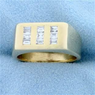 Designer 1/2ct TW Baguette Diamond Ring in 14K Yellow