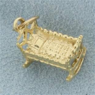 Baby Crib Charm in 14K Yellow Gold