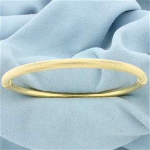 Italian Made Designer Bangle Bracelet in 18K Yellow