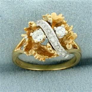 Designer 1/3ct TW Diamond Ring in 14K Yellow and White