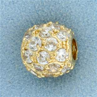 Bead Pendant or Bracelet Spacer in 14K Yellow Gold