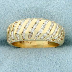 1ct TW Diamond Dome Ring in 14K Yellow Gold
