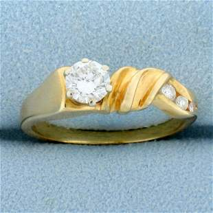 Modern Abstract Design Over 1/2ct TW Diamond Ring in