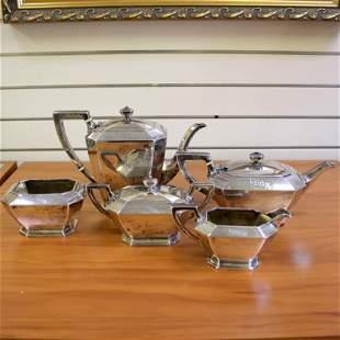 Vintage Gorham Fairfax Coffee and Tea 5 Piece Set in