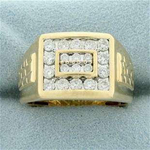 Mens 1ct TW Diamond Ring in 14K Yellow Gold