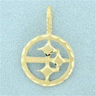 NFL Pittsburgh Steelers Pendant in 14K Yellow Gold