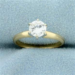 2/3 ct Solitaire Diamond Engagement Ring in 14k Yellow