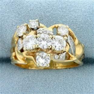 Vintage Custom Designed 1.75ct TW Diamond Ring in 14K