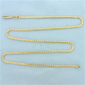 Serpentine Link 21 inch Chain Necklace in 18K Yellow