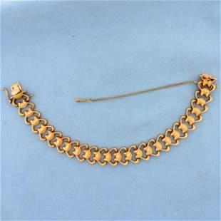 Designer Link Bracelet in 18k Rose Gold