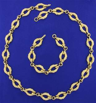 Italian Made Adjustable Heavy Designer Necklace and