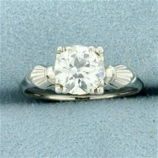 Antique 1.5CT Old European Cut Diamond Solitaire