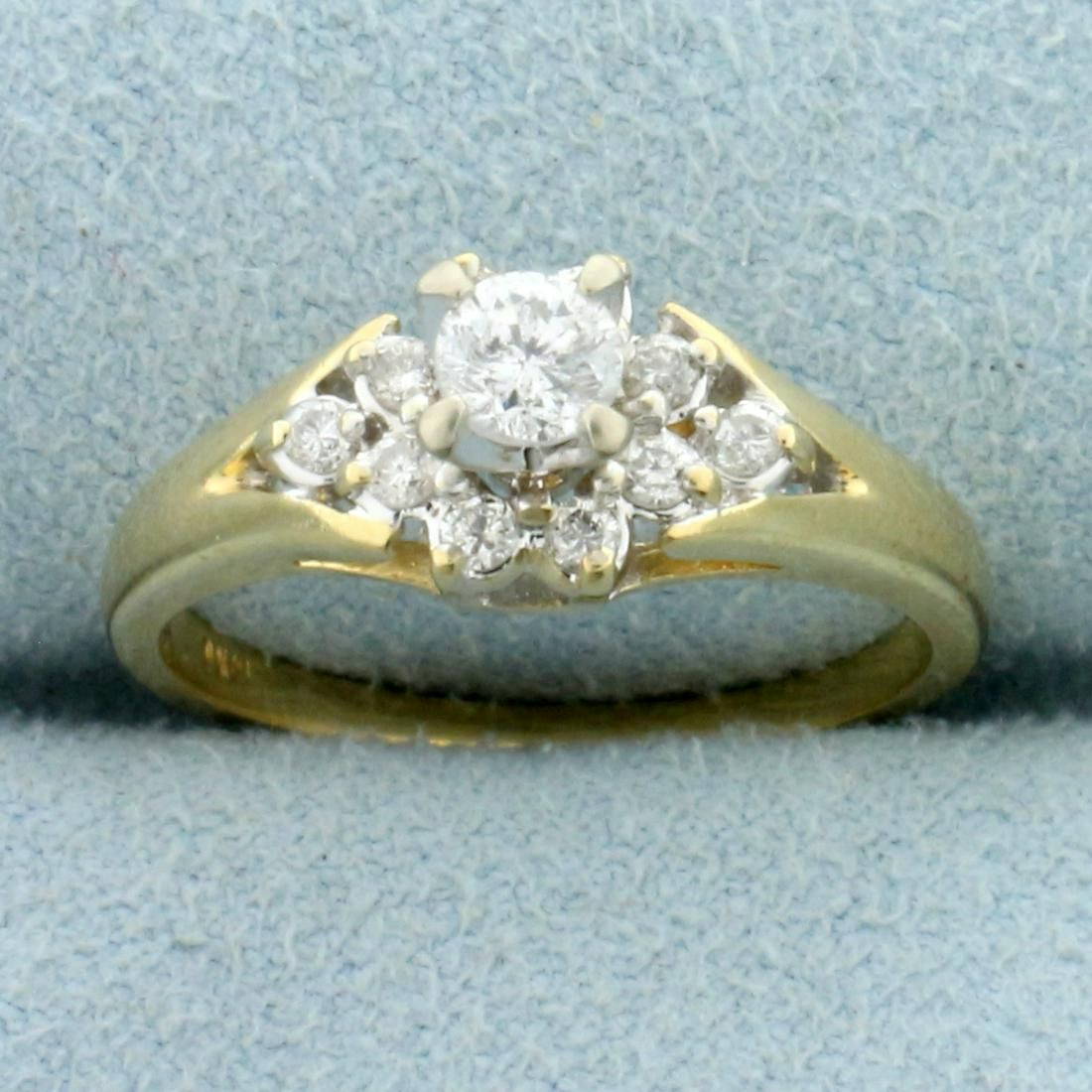 Vintage 1/3ct TW Diamond Ring in 14K Yellow Gold