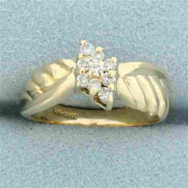 Vintage Diamond Ring in 14K Yellow Gold