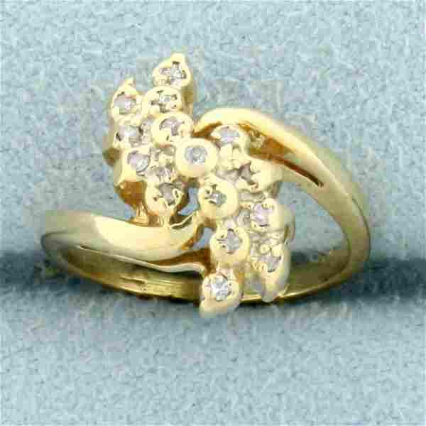 Vintage Diamond Childs Ring in 14K Yellow Gold