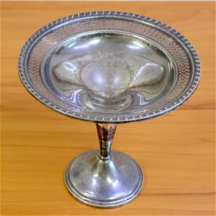 Vintage ELS Co Sterling Silver Candy Dish