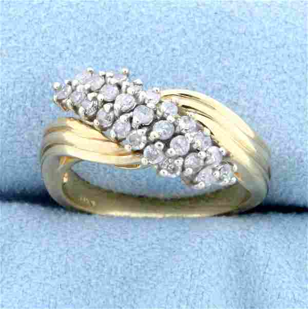 Vintage 1/2ct TW Diamond Ring in 14K Yellow Gold