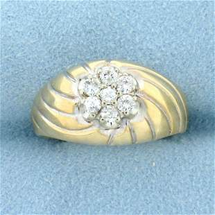Vintage Diamond Dome Ring in 14K Yellow Gold
