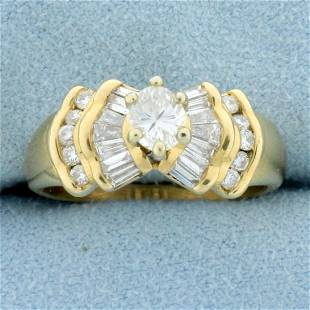 Vintage 1ct TW Oval Diamond Engagement Ring in 14K