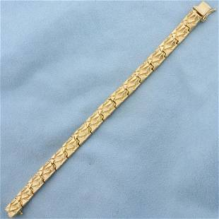 Nugget Style Abstract Design Bracelet in 14K Yellow