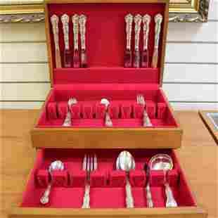 Gorham Rondo Sterling Silver 39 Piece Flatware Set