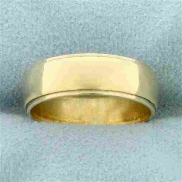 Womans Wedding Band Ring in 14K Yellow Gold