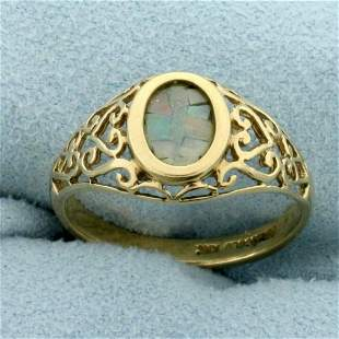 Vintage Opal Ring in 10K Yellow Gold