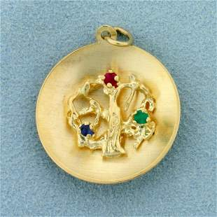 Ancient Tree Pendant in 14K Yellow Gold
