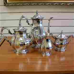 Vintage International Sterling 4 Piece Coffee and Tea