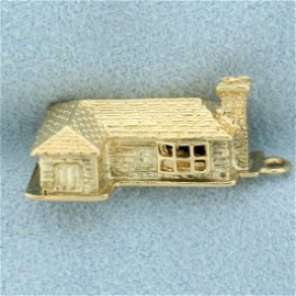 House Home Pendant in 14K Yellow Gold
