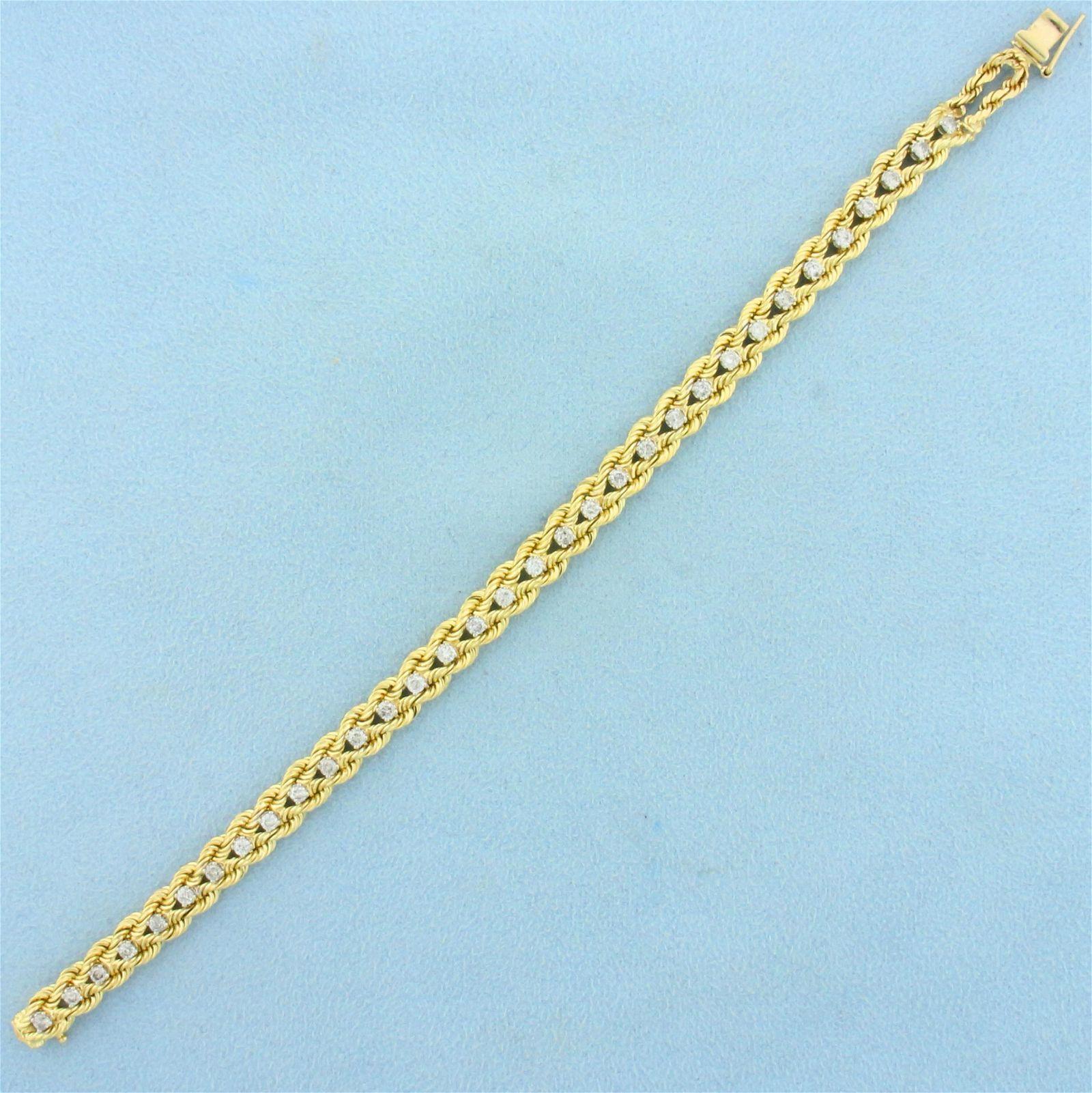 1.5ct TW Diamond Bracelet in 14K Yellow Gold