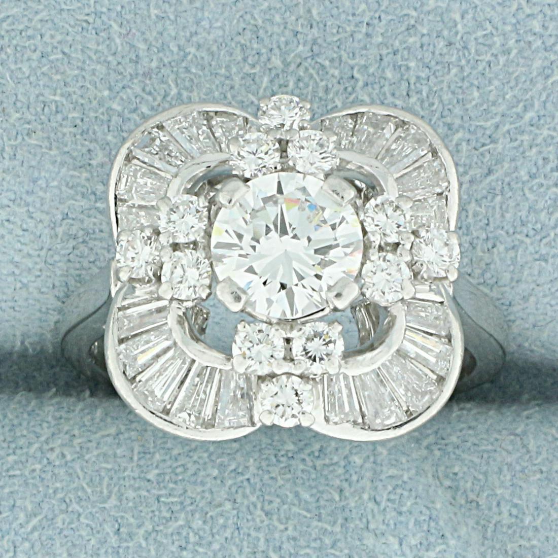 Unique Custom Designed 2.5ct TW Diamond Ring in