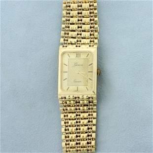 Mens Vintage Geneve Quartz Wrist Watch in Solid 14K