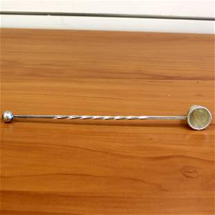 Ball And Twist Randahl Sterling Silver Nine Inch Candle
