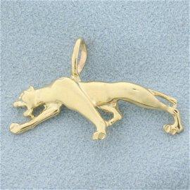 Jaguar Pendant in 14K Yellow Gold