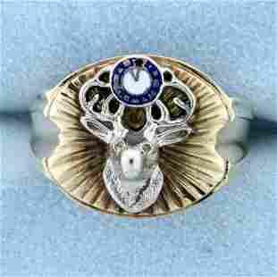 Vintage Benevolent and Protective Order of Elks Ring in