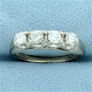 Four Stone Diamond Wedding or Anniversary Ring in 14K