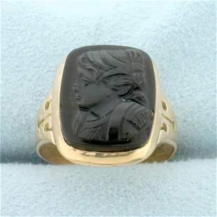 Vintage Cameo Ring in 14k Rose Gold
