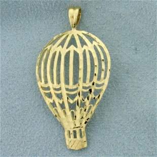 Hot Air Balloon Pendant in 14K Yellow Gold