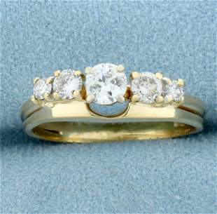 Antique Five Stone Diamond Wedding or Anniversary Ring