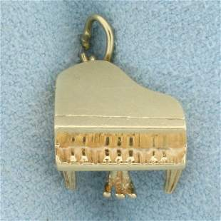 Grand Piano Charm or Pendant in 14K Yellow Gold