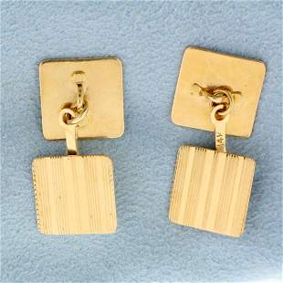 Vintage Cuff Links in 14K Yellow Gold