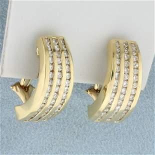 1ct TW Diamond Earrings in 14K Yellow Gold