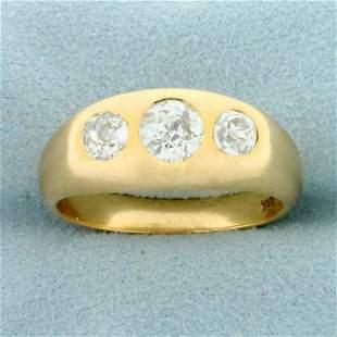 Mens Antique 1.5ct TW Old European Cut Diamond Three