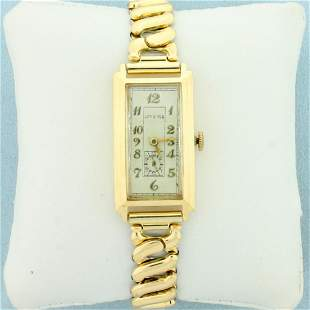 Vintage Manual Wind Longines Wrist Watch With Solid
