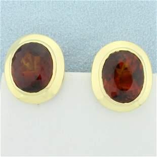 10ct TW AAA Citrine Earrings in 18K Yellow Gold