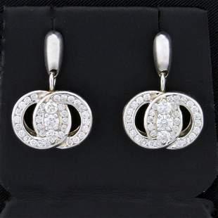 1ct TW Diamond Marriage Symbol Dangle Earrings in 14K