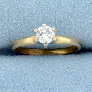 Almost 1/2ct Solitaire Diamond Engagement Ring in 14K
