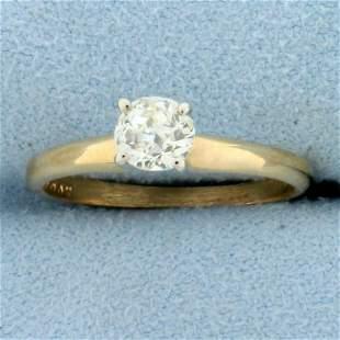 Antique 1/2ct Old European Cut Diamond Solitaire